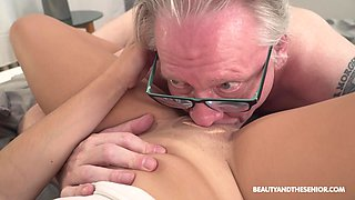 Old vs young porn video with hot ass brunette Serina Gomez