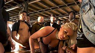 Busty MILF Alena Croft Gets Creampied By 18 Black Men