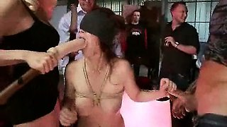 Aggressive Femdomme Enormous Hair Pulling And Bondage