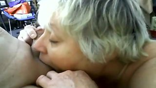 Granny Swallows Cum