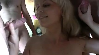 Blond Spanish Bukkake Wench