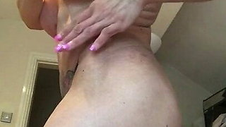 British Slut Tabbyanne showing off her big clit and tits