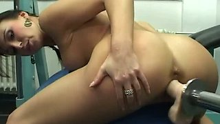 Lascivious chick Jackie has a big love for her fucking machine