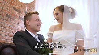 Cute Teen Bride Gets Fucked For Cash In Front Of Her Groom