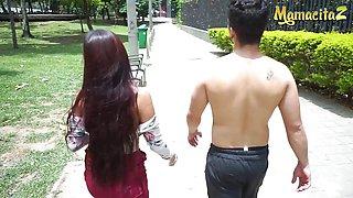 Steamy Latina Teen Salome Mendez Seduces Fit Guy