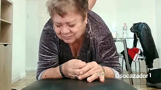 80YO GRANDMA LOUISE FUCKING WITH HER STEPSON. ORGASM, FACIAL BB
