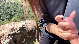 Holly Day In Holyday Trekking - Amateur Spanish Couple Caught Flashing Strangers Fucking In The Nature