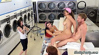 Extreme teen fuck and hot blonde pussy creampie Laundry Day
