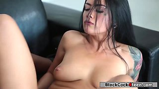Katrina Jade playing with her stepsis bfs black dick