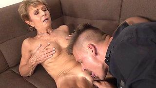 tinder horny strong boy fucks granny licking fetish