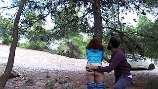 Rough Sex In The Forest Huge Cumload In Pussy Intense Orgasms