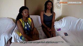 African Lesbian Ebony Massage includes Happy Ending using Dildo