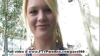 Nicole stunning amateur blonde babe public flashing