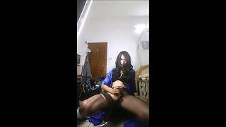 Chinese crossdresser hot masturbation