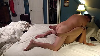 Amateur couple's erotic sensual love making