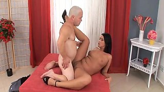 Sexy Brunette Pounded Hard By A Filthy Midget