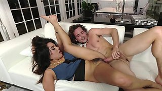 Sweet Latina cutie drilled hard by excited boss after work