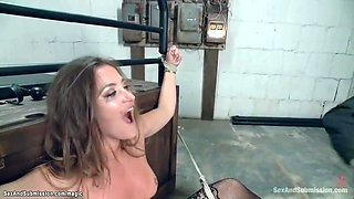 Bound Brunette Whipped And Pounded