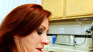 Savory busty mature Catherine Desade gets roughly slammed