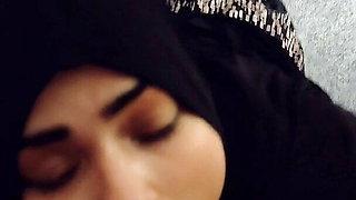 Muslim girl licking big cock