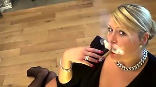 Crazy homemade Blonde, Stockings adult scene