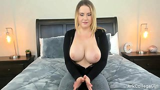 Amateur Blond Girl With Big Bo