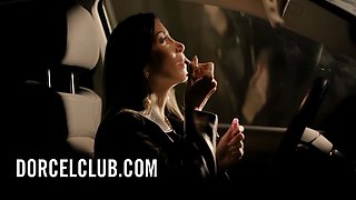 Clea Gaultier - French Hot Brunette Seduces The Bartender In The Bathroom 12 Min