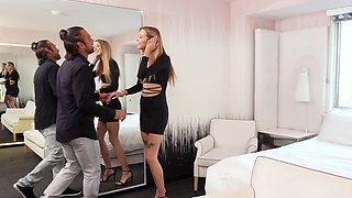 Unforgettable Haley Reed preps for rough anal with a fancy butt plug