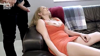 Hot Blonde MILF Joslyn Jane Attacked and Fucked by Webcam Fan