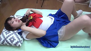 Debut Teen Seira Fucks Uncensored In Cosplay Shaved Pussy Chubby Ass Schoolgirl Looks Fab