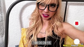 Slutty Coed Cant Keep Her Hands Off Her Iphone - Kenzie Reeves