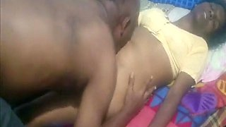 Indian tamil sexy figure aunty ass sniffed by her hub