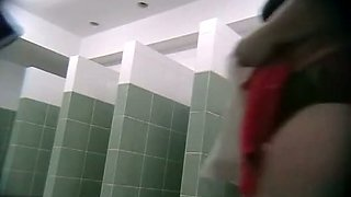 A shower room spy camera film amazing soapy action.