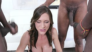 Hardcore interracial fuck and mouth pissing for slut babe