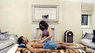 Teen Gives Erotic Massage To Her New Client And Gets A Creampie - Latina Interracial Sexy Jill