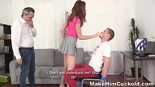 Shagging In Front Of A Cuckold - Young
