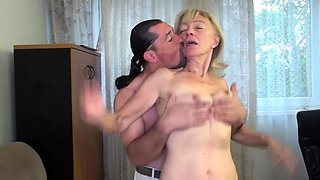 extreme ugly old mom banged by stepson