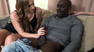 Hot babe loves big black cock