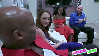 Anne Amari, Kendra Cole in First Family Interracial Swapping