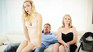 FamilyStrokes-  Virgin Teen Learns To Suck Cock From Mom