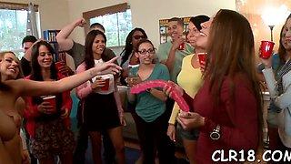 chick gets jizz on face segment film 1