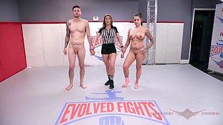 Sexy latina tori avano wrestles billy boston to the finish