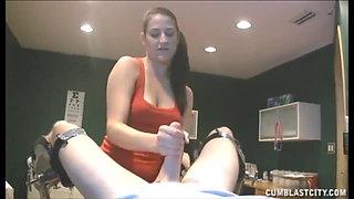 Nurse Is Given The Biggest Semen Sample Across Face