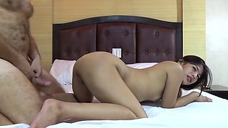 Filipina amateur loves being bent over on her knees wither taking cock in her mouth or in her cunt