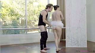 Instead of ballet dance lusty cutie Ember Stone prefers to be fucked