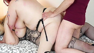 Girlfriend and Husband DP his busty wife
