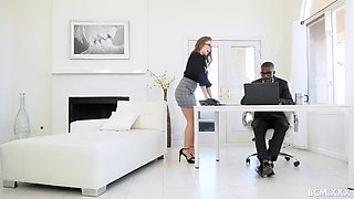 Boss Bbc Sampled By Milf Assistant Lena Paul