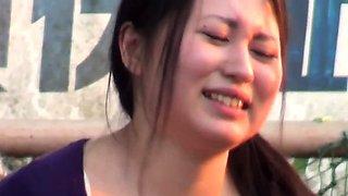 Asians pee outdoors