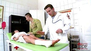 Doctors foot fetish exam!