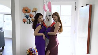 Easter day fucking with mom and stepsis